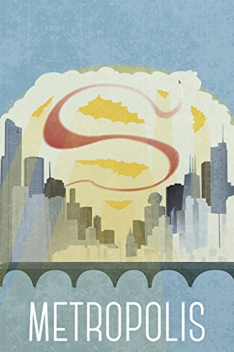 Metropolis Fantasy Travel Poster 12x18 inch