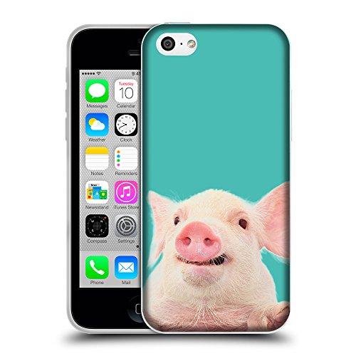 GoGoMobile Coque de Protection TPU Silicone Case pour // Q05730634 Cochon mignon Turchese // Apple iPhone 5C