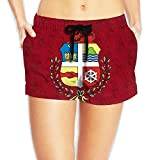 Coat of Arms of Aruba Women Fashion Sexy Quick Dry Lightweight Hot Pants Waist Beach Shorts Swimming Trunks