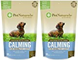 Calming for Dogs, Natural Behavior Support Formula, 30 Bite Sized Chews bundled with Reusable Travel Pill Pouch