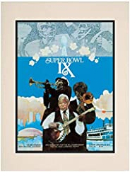 "1975 Steelers vs Vikings 10.5"" x 14"" Matted Super Bowl IX Program - NF"