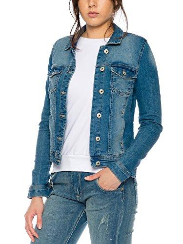 Only Onlnew Westa Det.jacket Pim4203 Dnm Noos - Chaqueta Mujer azul claro (denim)