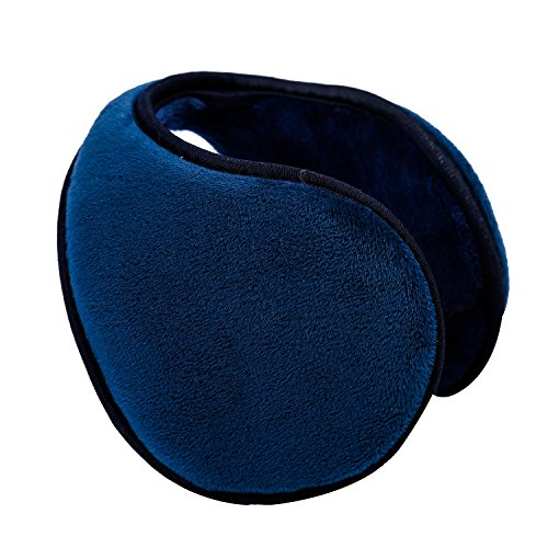 HIG Ear Warmer Unisex Classic Fleece Earmuffs Winter Accessory Outdoor Earmuffs (Blue) -