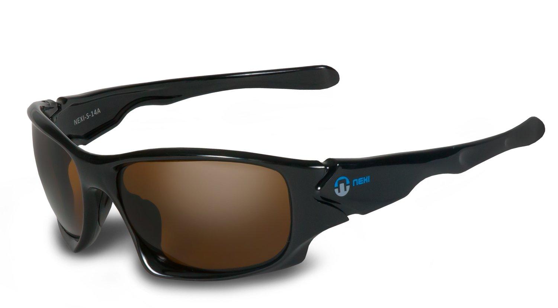 Nexi Sportbrille Sonnenbrille - Besonders Leicht Und Liegt Gut An - Ideal Zum Autofahren - Mit Polarisation (Nur Modell S-14-C-P) - S-14 schwarz Nexisto