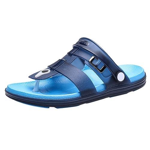 Zapatillas de Playa Verano Hombres Antideslizante Chancletas Sandalias Plano Estudiantes Sandalias: Amazon.es: Zapatos y complementos