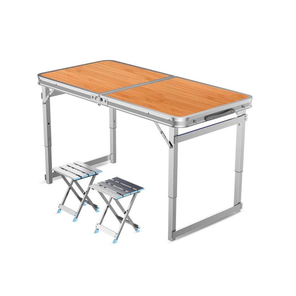 テーブルチェアセット 表 便 折りたたみ キャンプ 表 超軽量 アルミニウム ポータブル バーベキュー ピクニック キャンプ 料理 作業 宿題 CJC (色 : T3, サイズ さいず : D)   B07GK2ZQ5Z