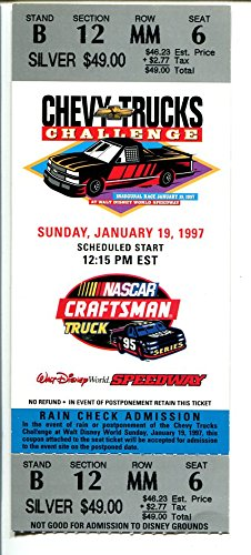 Walt Disney World Speedway-NASCAR Ticket-1/19/1997-used-Craftsman Truck-VG-