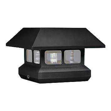 Mcfarland Cascade Terratec Luminous Plastic Solar Post Cap Black
