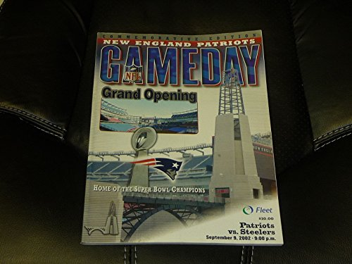 2002 NEW ENGLAND PATRIOTS OPENING DAY OF GILLETTE STADIUM VS STEELERS NR MINT