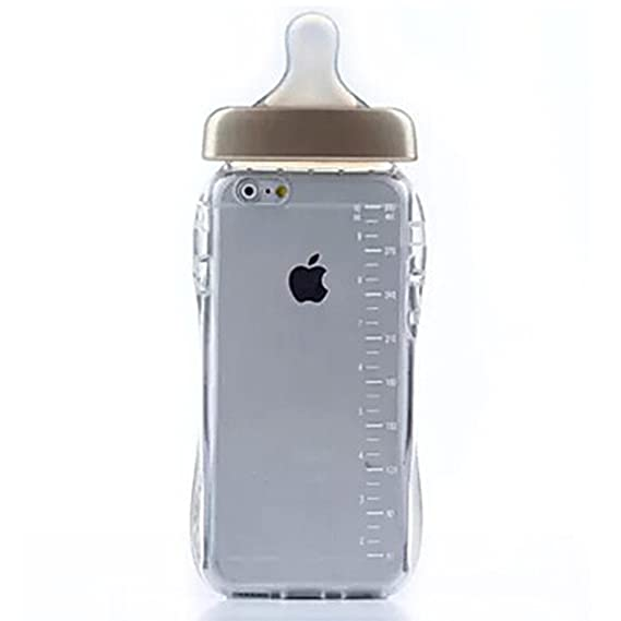purchase cheap 8d66e 0b9d0 Rejected all traditions iPhone 5s Brown Case, Creative 3D Soft TPU Cute  Baby Milk Bottle Shaped Clear Case Cover for iPhone 5 5S SE