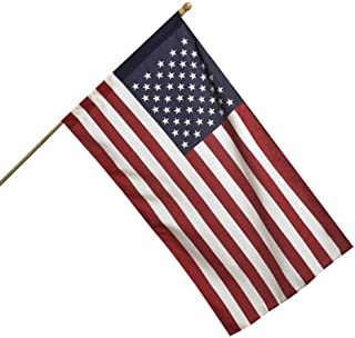 product image for Valley Forge American Flag Kit 2.5' x 4' Polycotton SENTINEL 100% Made in U.S.A. 5' Wood Pole and Bracket Model AA99050,Red,White,Blue