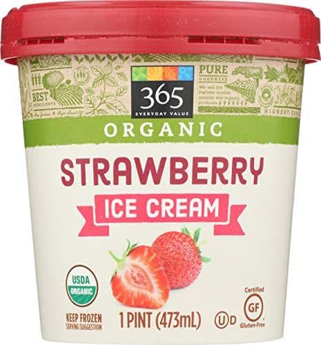365 Everyday Value, Organic Strawberry Ice Cream, 16 oz (Frozen)