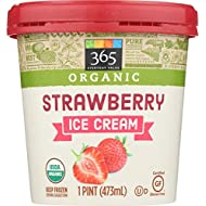 365 Everyday Value Organic Strawberry Ice Cream, 16 oz (Frozen)