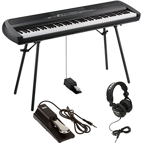 Korg Volume Pedal - Korg SP280BK 88-Key Digital Piano with Speaker with Keyboard Piano Style Sustain Pedal and Stereo Headphones