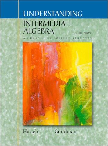 Understanding Intermediate Algebra with CD: Algebra for College Students