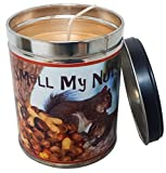 Banana Nut Bread Scented Candle in 13 Ounce Tin with a Smell my Nuts Label By Our Own Candle Company