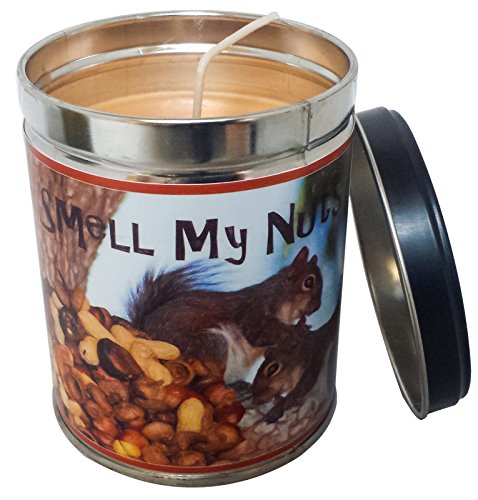 - Our Own Candle Company Banana Nut Bread Scented Candle in 13 Ounce Tin with a Smell My Nuts Label