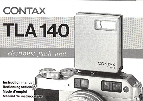 - Contax TLA 140 Electronic Flash Unit Original Instruction Manual