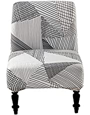 Armless Chair Slipcover Removable Armless Accent Chair Covers Washable Chair Slipcovers Furniture Protector Covers for Living Dining Room Hotel Armless Accent Chair