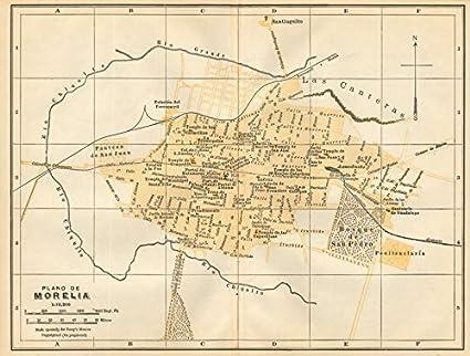 Amazon Com Plano De Morelia Mexico Mapa De La Ciudad City Town