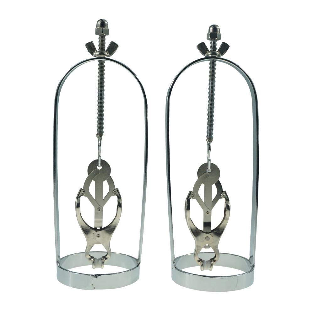 Barette New Style Butterfly Adjustable Torture Play Clamps cage Nipple Clips Breast Bondage Restraints Metal Fetish Sex Toys