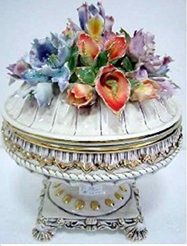 Capodimonte Style Ceramic Tureen with Cover/Lid -