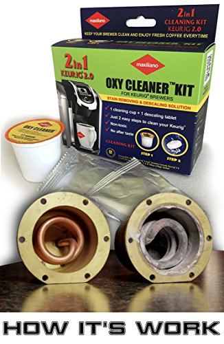 Amazon.com: Descaling Kit, Descaler for Keurig 2.0, For All K-Cup Keurig Brewers, Biodegradable, Non Toxic, No After Taste: Home & Kitchen