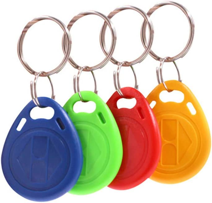 20 pcs 125KHz ID Keyfobs/tag Copy Rewritable Writable Rewrite Duplicate RFID Tag Proximity Card Access Mixed Color