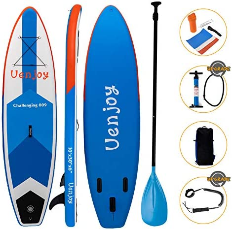 Uenjoy Inflatable Sup 11 30 x6 All Around Paddle Board, W Full Accessories, Perfect for Yoga Fishing Touring