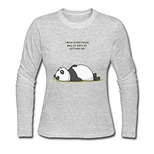 bosenjiaju Women's Shirts Panda Funny T - Tracking Ups Class First Package