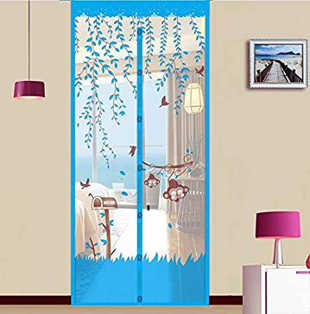 Summer home gasa de malla neta antimosquitos mosca cortina cierre automático imán pantalla suave puerta cocina cortina puerta A3 W100xH210