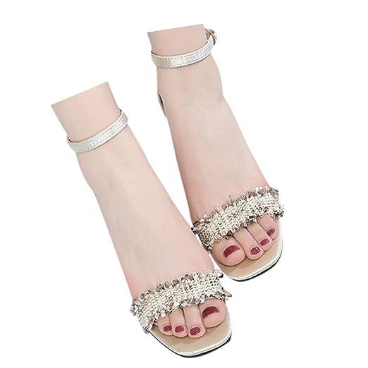 9da58a5d2ca Amazon.com: Veodhekai Womens Square High Heel Shoes Wild Ankle ...