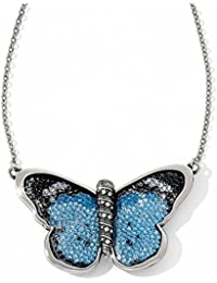Amazon brighton necklaces pendants jewelry clothing bright crystal rocks papillon blue butterfly necklace mozeypictures Images