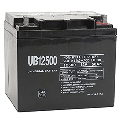 12V 50Ah Wheelchair Battery Replaces 40ah Interstate DCM0040