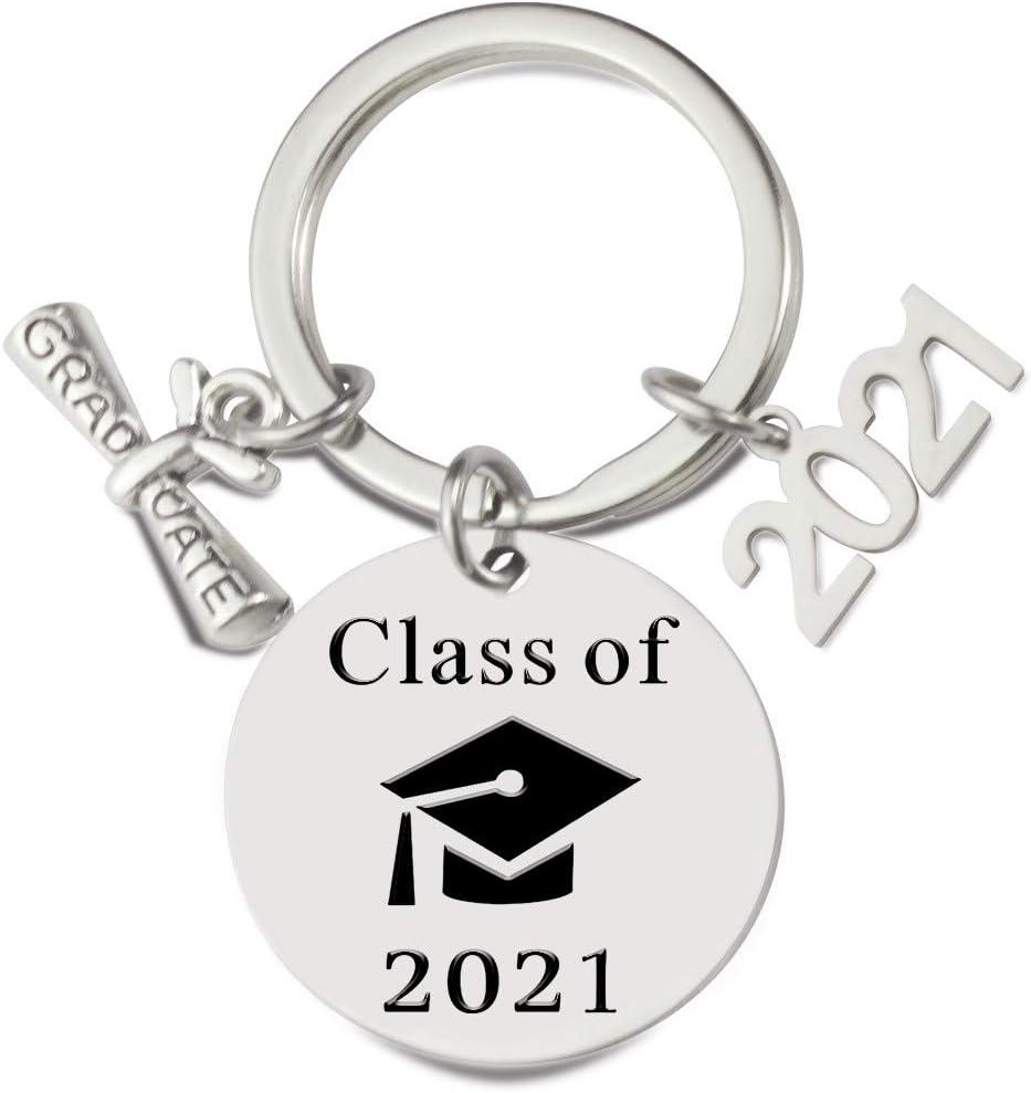 Graduation Keychain Class of 2021 Senior Gift Graduate Keepsake High School Senior Present Graduation Cap for Her or Him Custom Gift