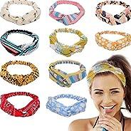 BULYZER Headband for Women,Cross Head Wrap Hair Band Girls Hair Band Headbands,Gift for Women Turban Printed C