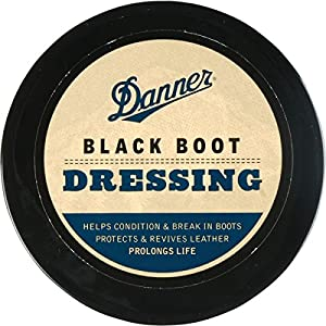Danner Boot Dressing Black (4 OZ) | Condition, Protects and Revives Leather Boots |Shoe Care for Leather Boots, Shoes, Bags, Seats, Leather Sofa | For Use on Full-grain Leather Only | Made in USA