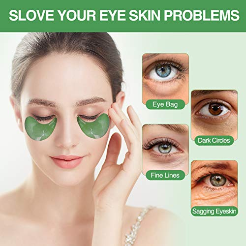 51493bg4TDL - Collagen Under Eye Patches,60 PCS Under Eye Gel Pads Eye Mask Treatment with Anti-Aging Hyaluronic Acid For Moisturizing & Reducing Dark Circles Puffiness Wrinkles Fine Lines for Women and Men