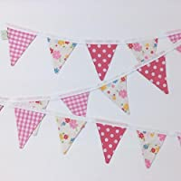 KIDS PLAYHOUSE BUNTING ~ PINK GINGHAM & DOTTY ~ BEDROOM/WALL DECOR
