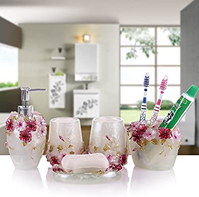 Set de baño, artículos de tocador, cepillo de dientes set adornos ...