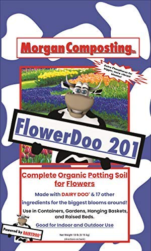 Dairy Doo Premium Flower 201, 1 cu ft Bag - Vibrant Blooms Strong Roots Phosphorous Worm Castings Tennessee Brown Rock Organic Gardens Container Raised Bed Or In Ground Michigan Made Fertilizer Soil ()