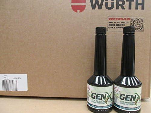2 x Wurth diésel y inyector limpiador concentrado Gen X 200 ml ...