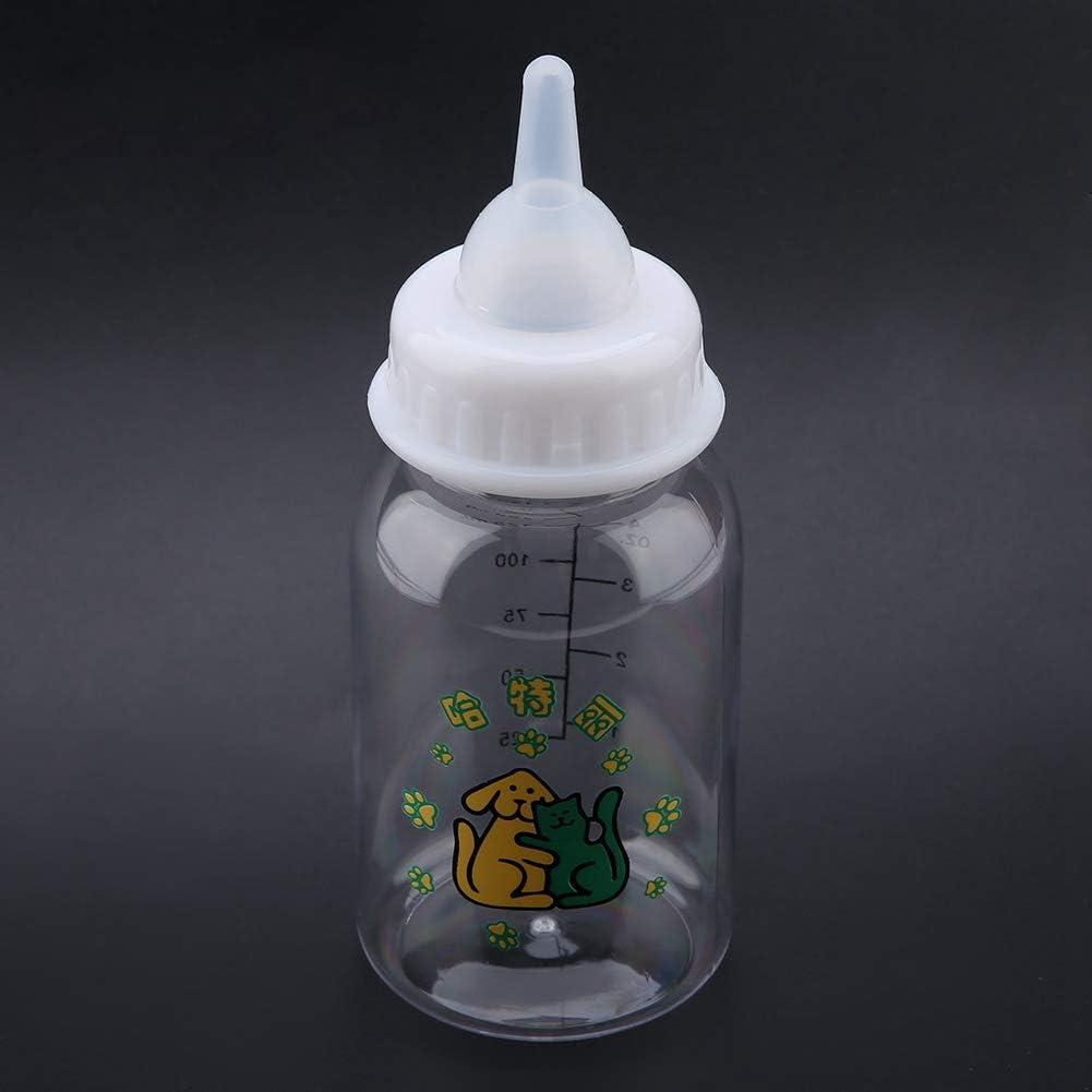 Biber/ón con tetina Juego de biberones de Lactancia para Cachorros Kit de alimentaci/ón de Gatitos Biberones de Leche con tetina para Mascotas peque/ñas 125 ml