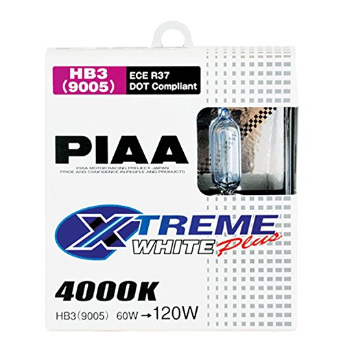 Racing Headlight Bulbs - PIAA 19615 9005 (HB3) Xtreme White Plus High Performance Halogen Bulb, (Pack of 2)