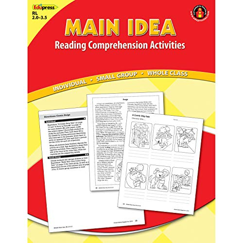 Edupress EP-2364 Red Level Main Idea Reading Comprehension Activities, 0.25