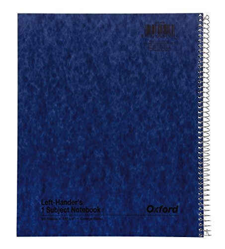Ampad Single Wire Notebook, Size 11 x 8-1/2, 1 Subject, Left Hand Open, Assorted Covers ( Blue, Yellow, Red, green, White, Tan), College Ruled With Margin Line, 80 Sheets Per Notebook (25-416)