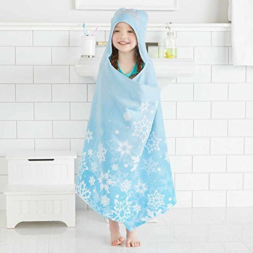 Disney Frozen Elsa Hooded Towel Wrap for Swimming Pool, Bath, or Beach by Disney
