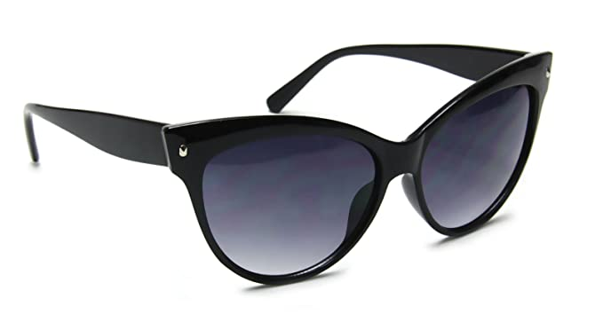 a5f64d4ad1 Retro Cat Eye High Pointed Vintage Inspired Fashion Black Sunglasses