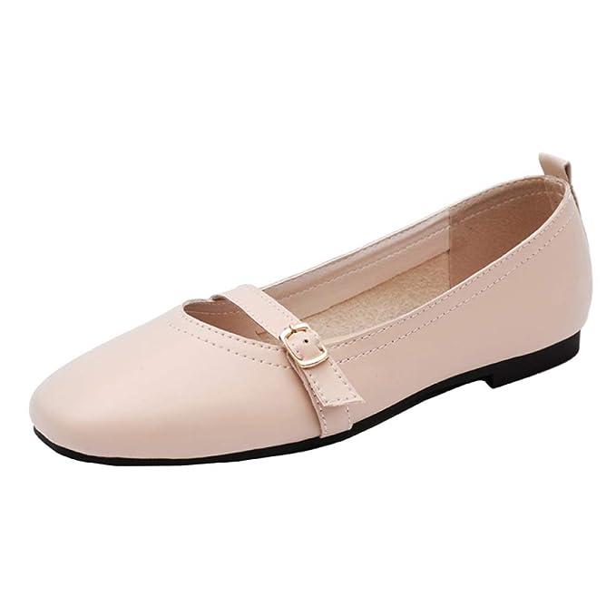 RegbKing Zapatos Bajos Zapatos De Trabajo Mujer Zapatos Casuales Mocasines Zapatos De Barco Zapatos De Guisantes Zapatos De Plataforma Plegables Mocasín: ...