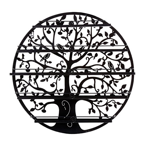 Lantusi Wall Mounted 5 Tier Nail Polish Rack Holder, Tree Silhouette Black Round Metal Nail Polish Storage Organizer Display, Great for Home, Business, Salon, Spa, and More (US STOCK) (Tree) by Lantusi (Image #8)